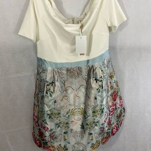 Ted Baker pastel floral honeycomb dress, size 5